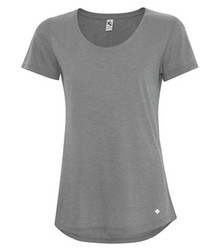 KOI TRIBLEND SCOOP NECK RELAXED LADIES' TEE - KOI8036L - Grey Triblend