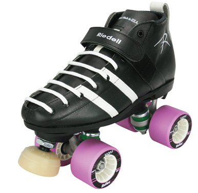 Riedell 265 Roller Derby Skate with PowerDyne Reactor Neo Plate and Villain Wheels