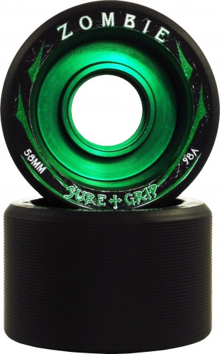 98A Green Core - Extra firm for insane speed on coated floors, tracks, and soft skate court.