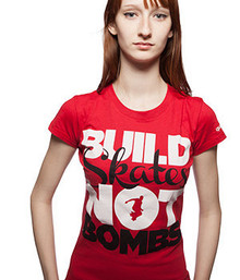 Build Skates not Bombs Women Roller Derby Shirt
