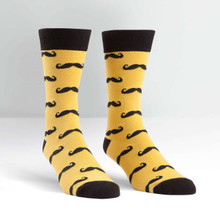 Sock it to me - Men's Crew -  Mustache