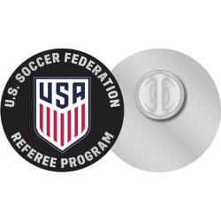 7058CL USSF Referee Crest Lapel Pin