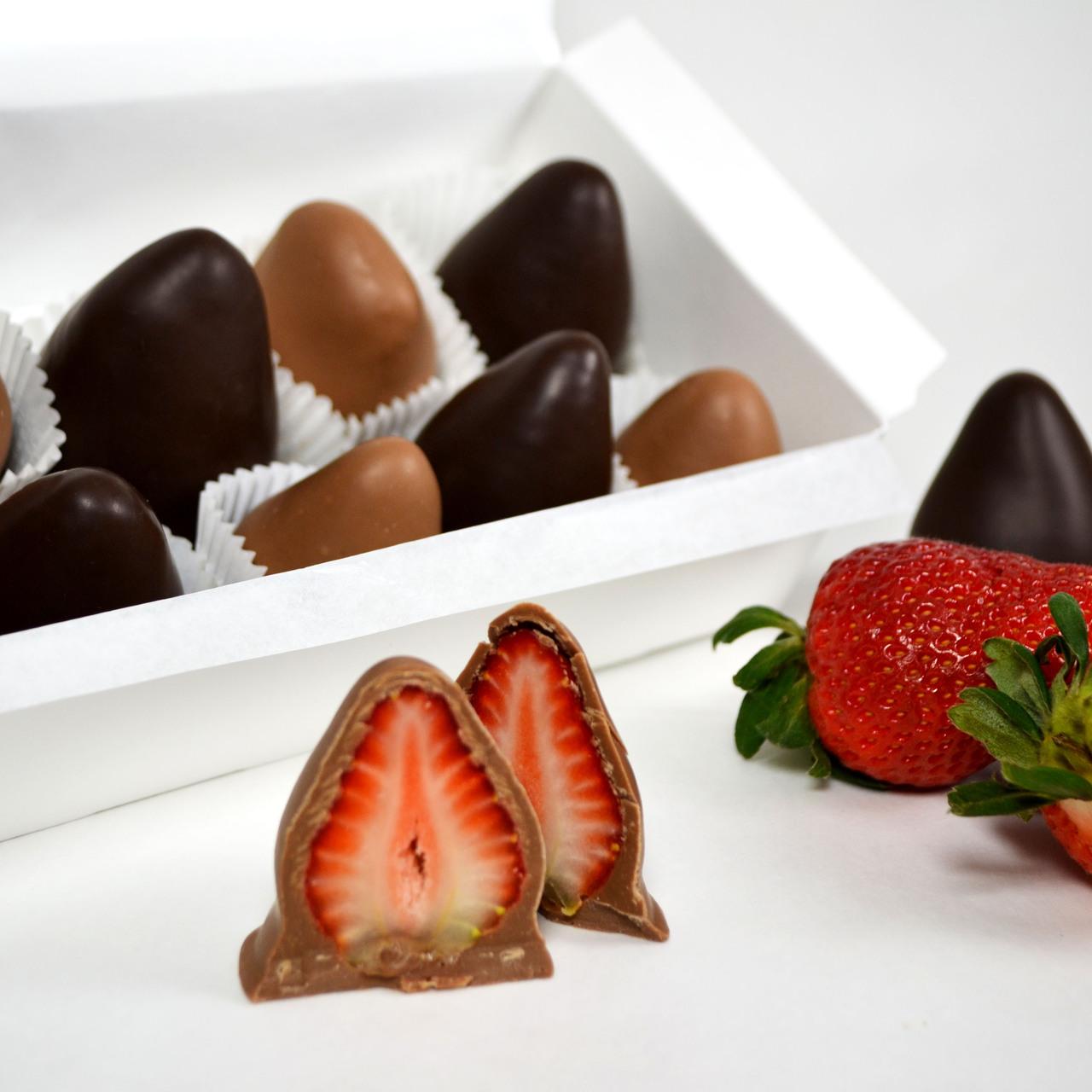 Chocolate Covered Strawberries - The Chocolatier
