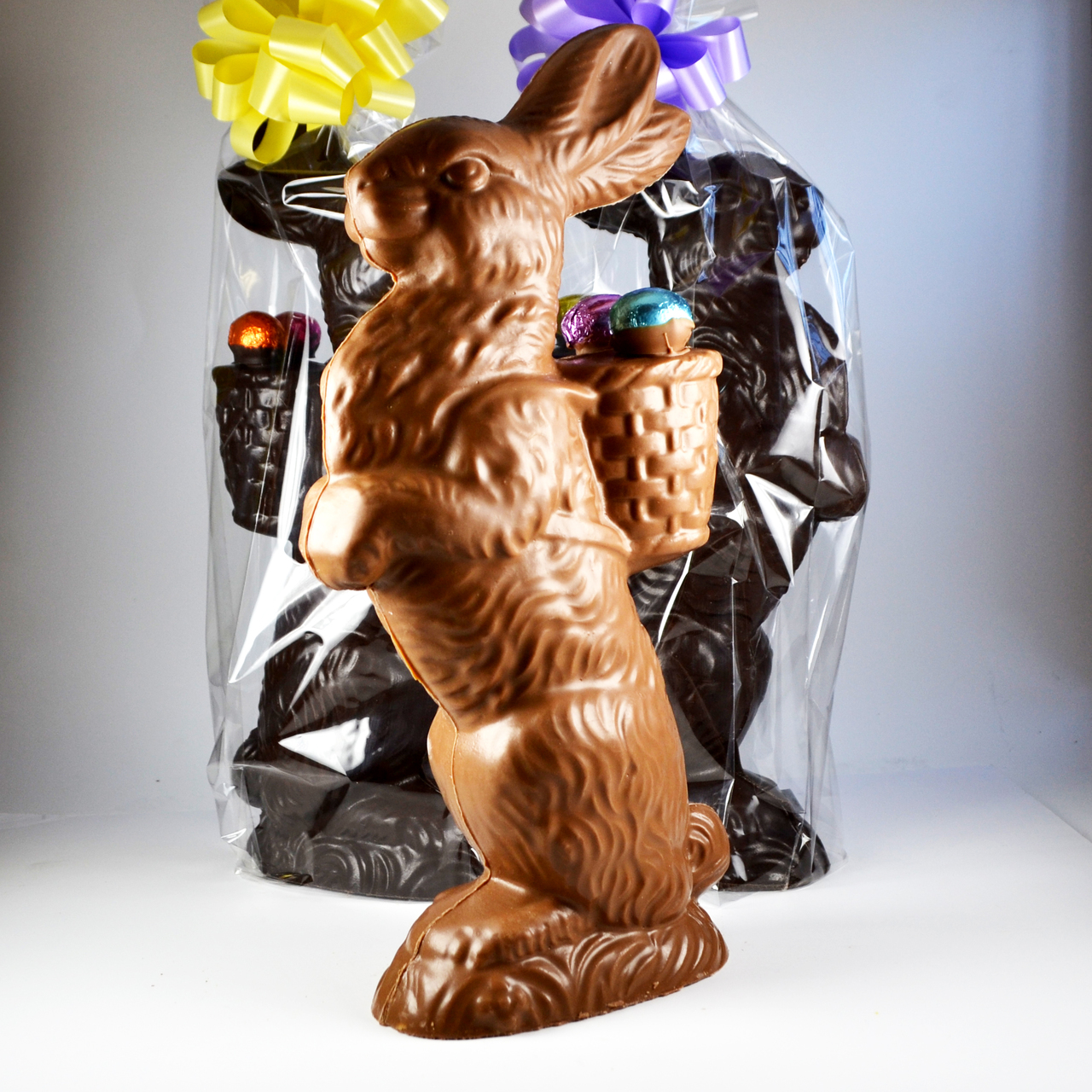 Large Proud Chocolate Bunny - The Chocolatier