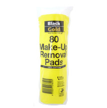Black and Gold Cotton Pads x80