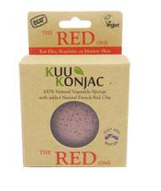 KUU Konjac Sponge with French Red Clay Box of x14