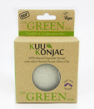 KUU Konjac Green French Clay Sponge -Box of x 14