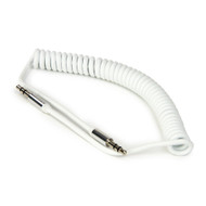Buddee 3.5mm AUX Coiled Cable - White - BD405010-WH