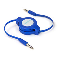 Buddee 3.5mm AUX Audio - Blue Audio Retractable TPE Flat Cbl - BD405030-BL