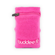 Buddee Fit Sports Wrist Band With pocket - Pink - BD700152-PK