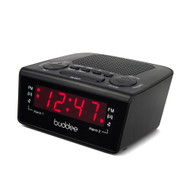 Buddee Digital Dual Alarm Clock Radio AM/FM 0.6in LED BK - BD903205-BK
