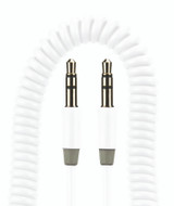 Gecko AUX White Coiled Cable - GG100027