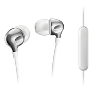 Philips In-EarGel with Mic White - SHE3705WT