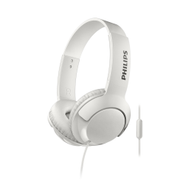 Philips BASS+ On-Ear W/Mic White - SHL3075WT