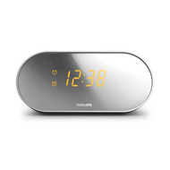 Philips Alarm Clock Mirror Finsh - White - AJ2000