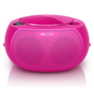 Philips Portable CD Player - Pink - AZ100C