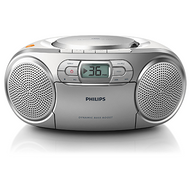 Philips Portable CD/Tape/FM - Silver - AZ127