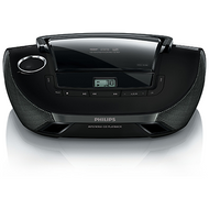 Philips Portable CD Player/USB - Black - AZ1837