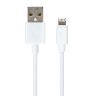 Gecko Lightning to USB Round Cable 1.5m - White
