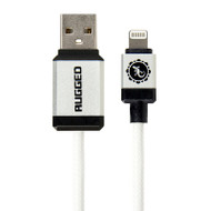 Gecko Rugged Lightning to USB Round Cable 1.5m - White