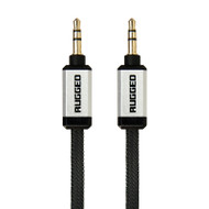 Gecko Rugged Aux Audio Flat Cable 1m - Black