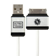 Gecko Ultra Tough 30-Pin to USB Cable 1.2m - White