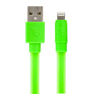 Gecko Flat Glow Cable - Lightning to USB 1.2m - Green