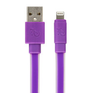 Gecko Flat Glow Cable - Lightning to USB 1.2m - Purple