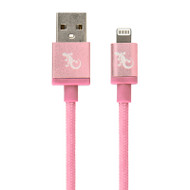 Gecko Lightning to USB Metallic Cable 1.2m - Rose Gold