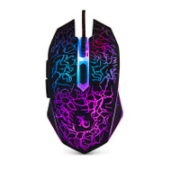 Gecko 6D Wired Gaming LED Optical Mouse Switching DPI - Black