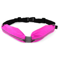 Gecko Active Dual Pocket Fitness Belt - Pink