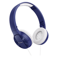 Pioneer Enclosed Dynamic Fold Headphones - Blue - SEMJ503L