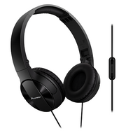 Pioneer Enclosed Dynamic Fold Headphones w Mic - Black - SEMJ503TK