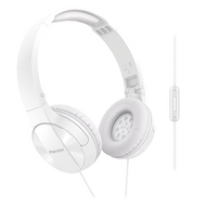 Pioneer Enclosed Dynamic Fold Headphones w Mic - White - SEMJ503TW