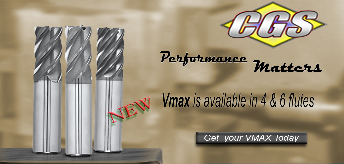 VMAX Carbide End Mills from CGS