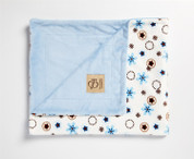 Daisy Rings Blanket Blue