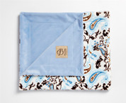 Perfect Paisley Blanket Blue