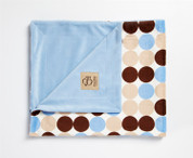 Retro Dots Blanket Blue