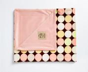 Retro Dots Blanket Chocolate