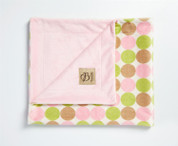 Retro Dots Blanket Pink and Green