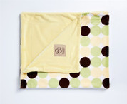 Retro Dots Blanket Yellow and Green