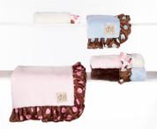 Lux Satin Trim Blanket 30x36