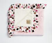 Pink Lux Satin Trim Blanket 30x36