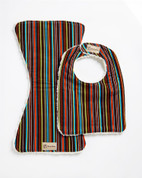 Chocolate Stripes Bib & Burpie Set