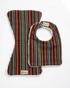 Chocolate Stripes Bib & Burpie Set