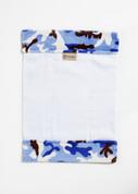 Camoflage Blue Burp Cloth
