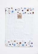 Daisy Rings Blue Burp Cloth