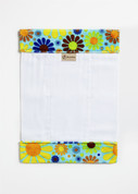 Flowerchild Turquoise Burp Cloth