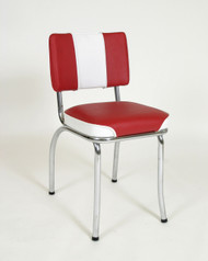 Classic two tone 50's dinette chair retro style chrome frame