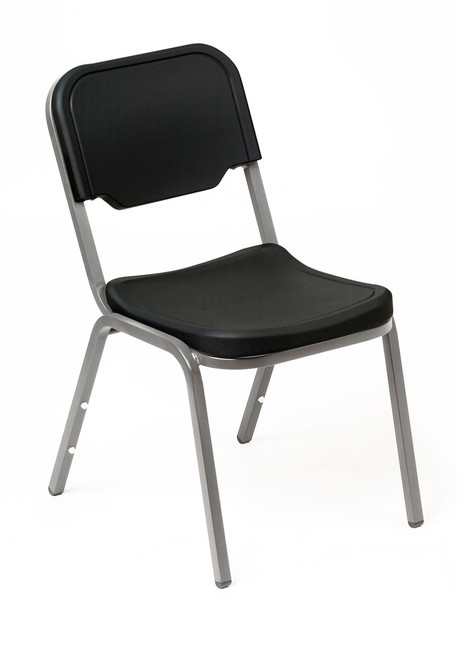 This Iceberg Rough Nu0027 Ready Stack Chair   Shown In Black Finish   Is  Designed